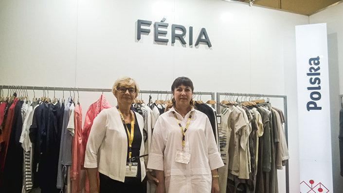 Renata Zdunowska, specjalista ds. Exportu firmy Sunwear (po lewej stronie) i jej partnerka biznesowa z Rosji