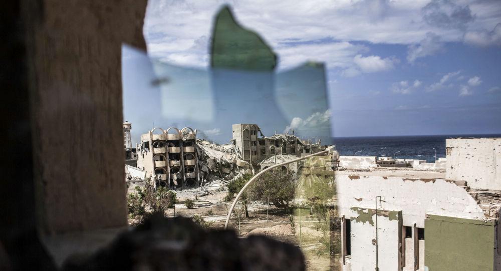 Ruiny libijskiego miasta Surt. Zdjęcie archiwalne
