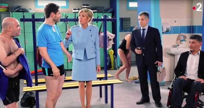 Plan filmowy francuskiego serialu Vestiaires