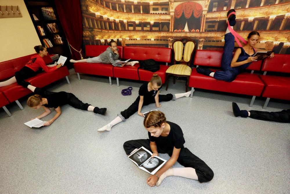 Przygotowania do egzaminu w Krasnojarskiej Szkole Choreografii