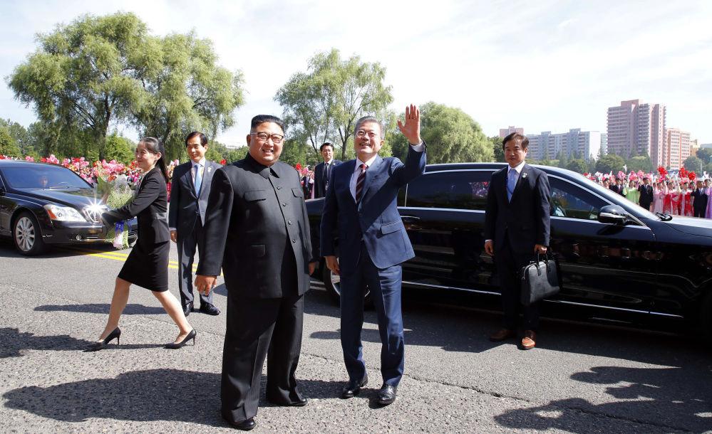 Przywódcy Korei Południowej i Północnej