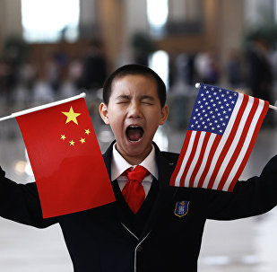 Flagi Chin i USA