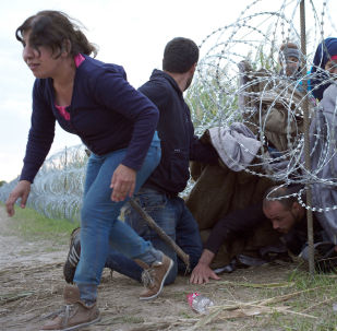 Grupa imigrantów przekracza węgierską granicę ze strony Serbii