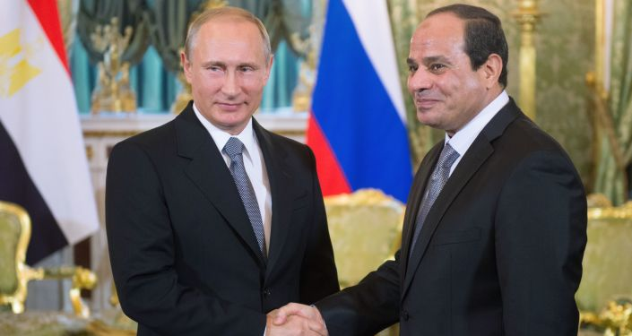 Prezydent Rosji Władimir Putin na spotkaniu z prezydentem Egiptu Abdelem Fatahem as-Sisim