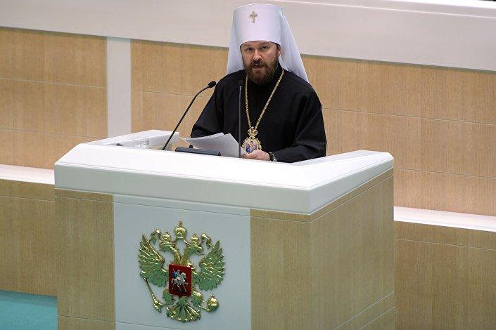 Metropolita Wołokołamski, przewodniczący Wydziału Zewnętrznych Stosunków Cerkiewnych Patriarchatu Moskiewskiego Hilarion