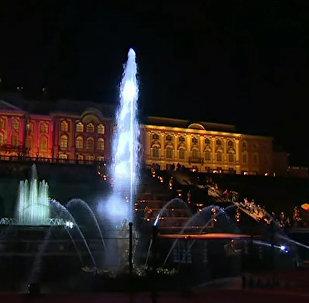 Ceremonia zamknięcia fontann w Peterhofie