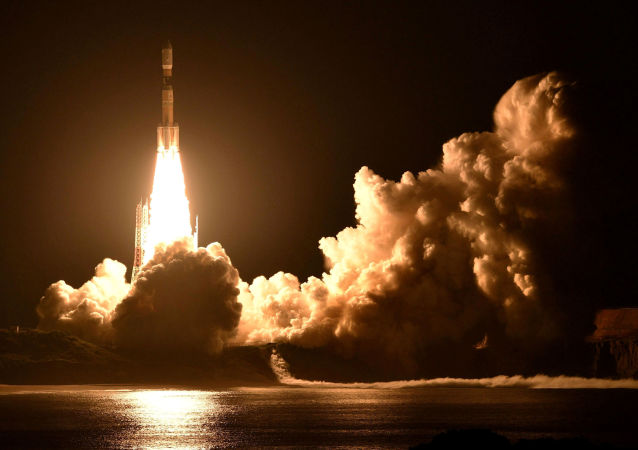 Start rakiety H2B z kosmodromu Tanegashima. Japonia