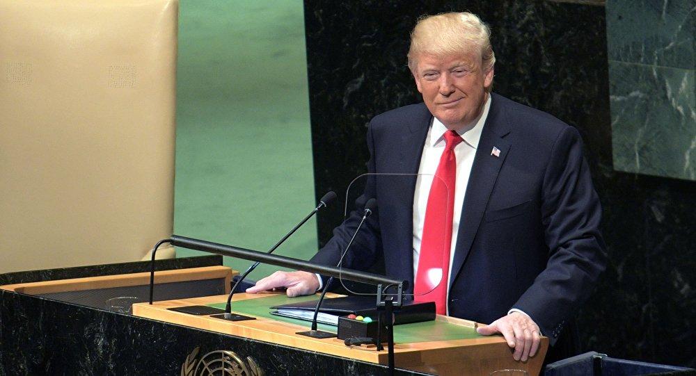 Prezydent USA Donald Trump przemawia na 73. sesji Zgromadzenia Ogólnego ONZ