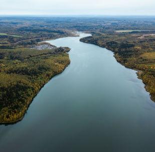 Rzeka w mieście Bieriezniki w Kraju Permskim