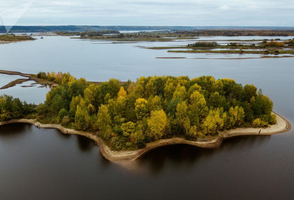 Wyspy na rzece Kama w Kraju Permskim