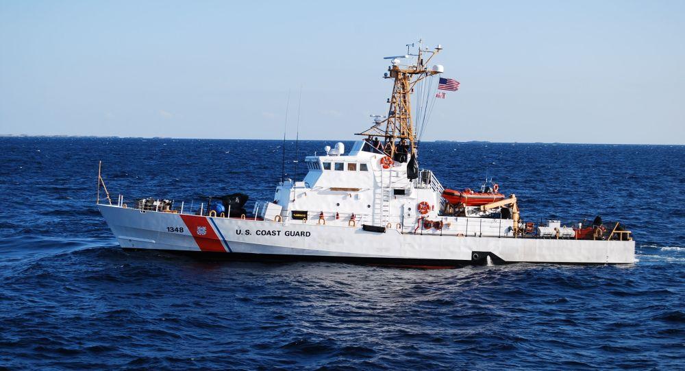 Kuter Knight Island straży wybrzeża USA. Zdjęcie archiwalne