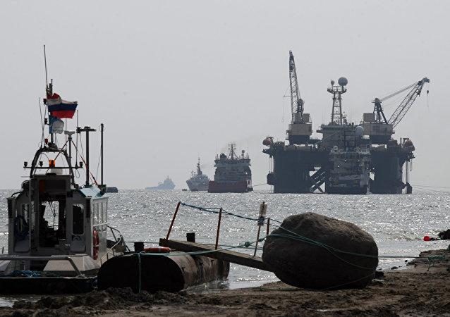 Bauarbeiten für den zweiten Strang der Pipeline Nord Stream 2