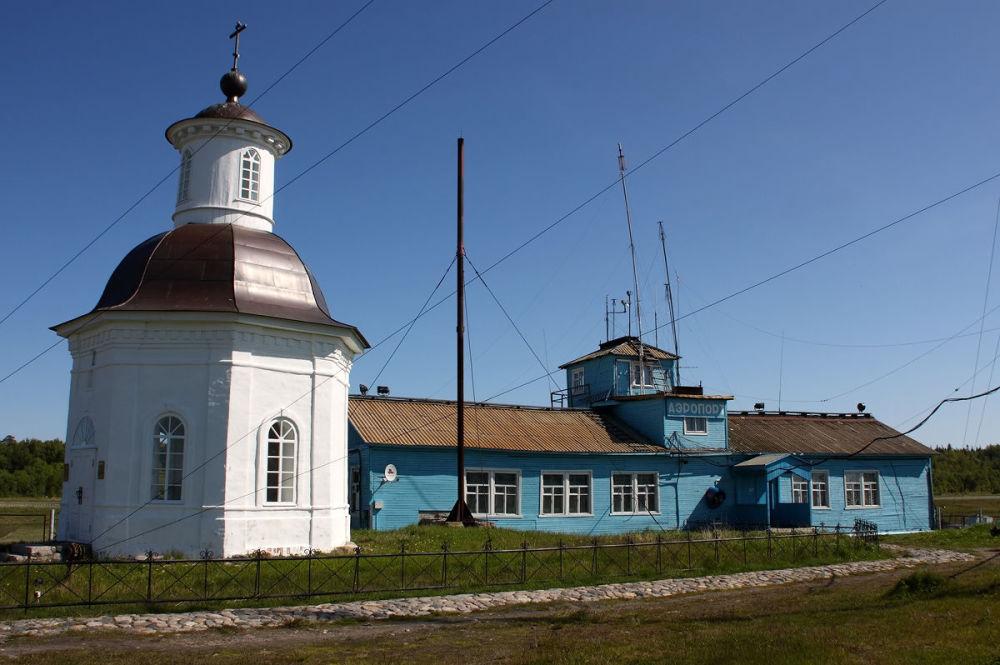 Terminal lotniska na Wyspach Sołowieckich