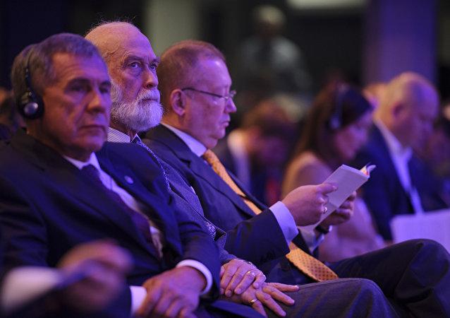 Książę Michał z Kentu na Rosyjsko-brytyjskim Forum biznesowym