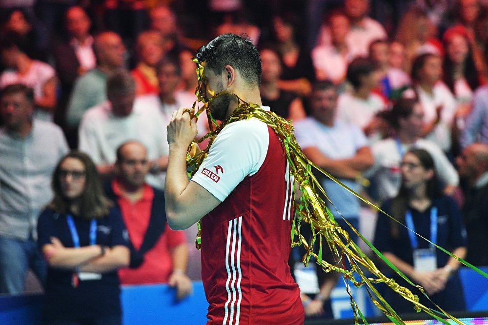 Fabian Drzyzga po wygranym finałowym meczu MŚ w siatkówce 2018