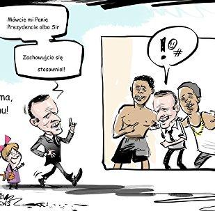 Macron w towarzystwie