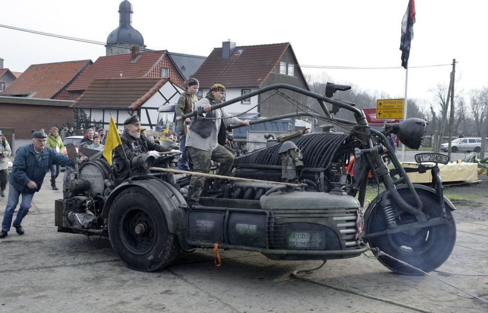 Największy motocykl na świecie w Niemczech