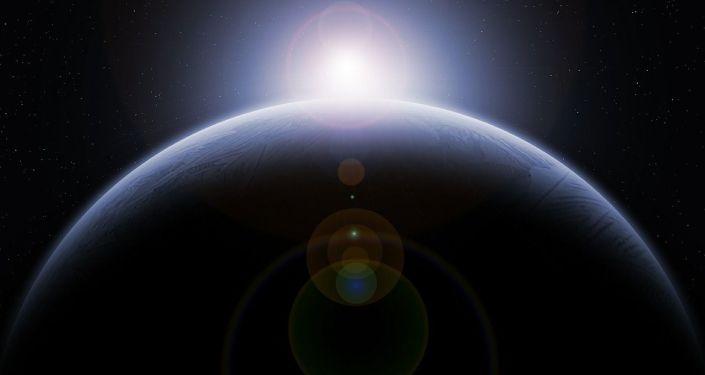 Artystyczny wizerunek nieznanej planety