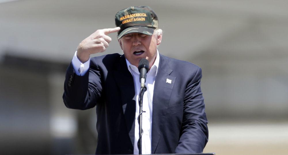 Kandydat z ramienia Republikanów na stanowisko prezydenta USA Donald Trump