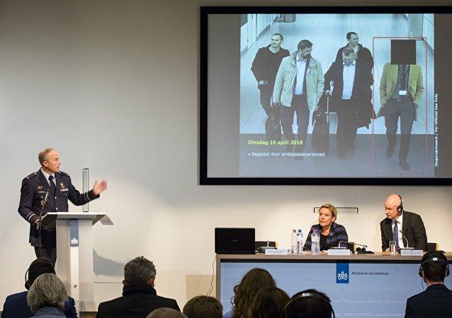 Konferencja prasowa ws. wydalenia obywateli Rosji z Holandii