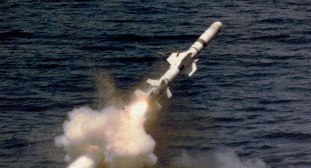 Wystrzał rakiety Garpun z okrętu podwodnego