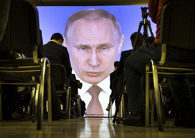 Transmisja wystąpienia Władimira Putina