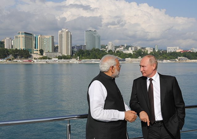 Władimir Putin i Narendra Modi