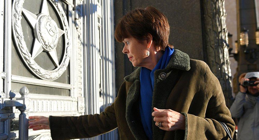 Ambasador Holandii w Moskwie Renée Jones-Bos przybyła do siedziby MSZ Rosji
