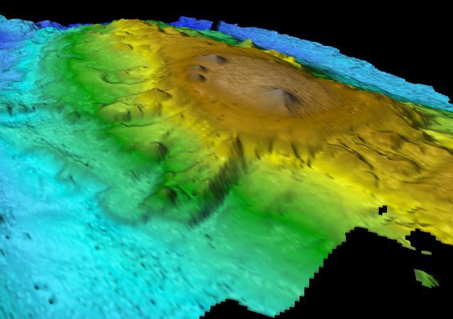 Zdjęcie łańcucha górskiego odkrytego przez naukowców na dnie Oceanu Spokojnego u wybrzeży Australii