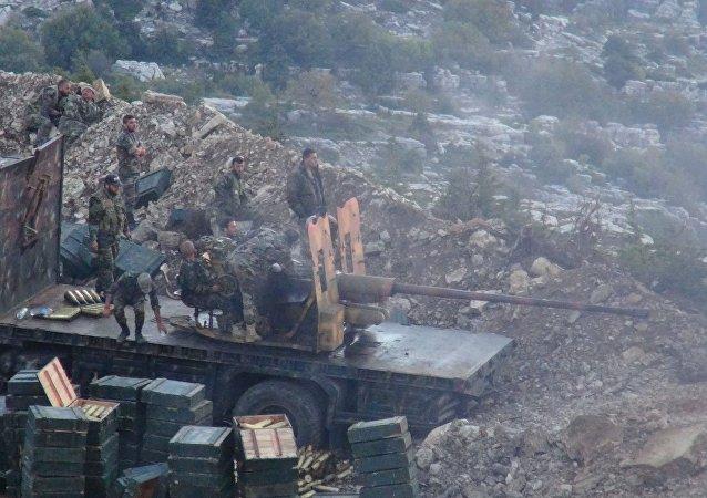 Syryjska armia w Latakii