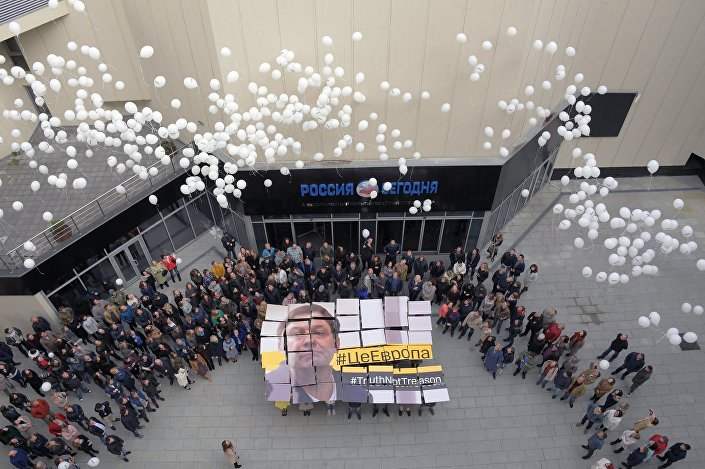 Uczestnicy akcji wsparcia dla Kiriła Wyszynskiego