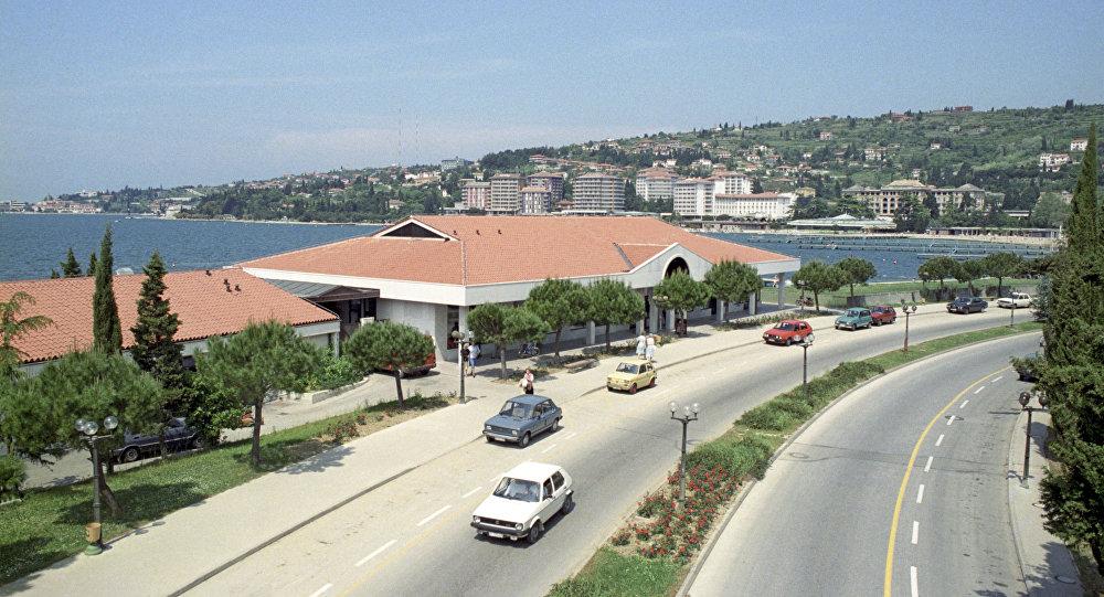 Wybrzeże Adriatyku. Piran, Jugosławia. 1988 r.