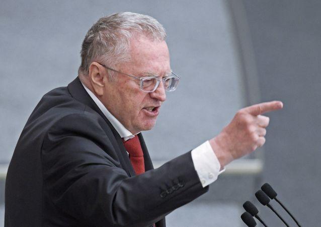 Lider Liberalno-Demokratycznej Partii Rosji Władimir Żyrinowski
