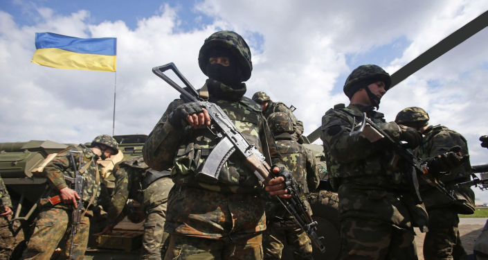 Ukraińscy żołnierze na linii demarkacyjnej w Donbasie