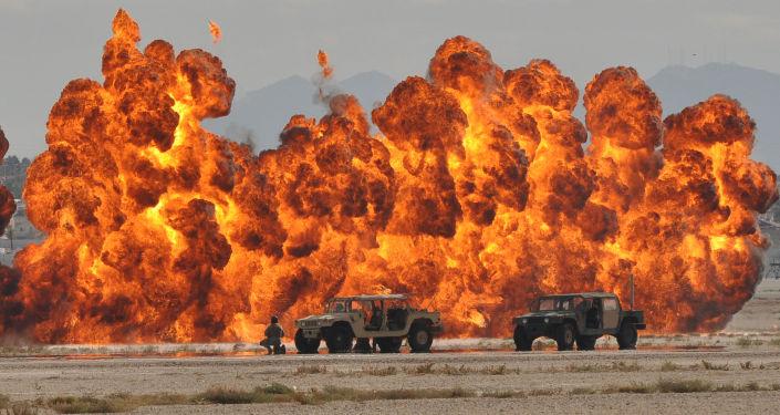 Atak pokazowy amerykańskich sił specjalnych. Zdjęcie archiwalne