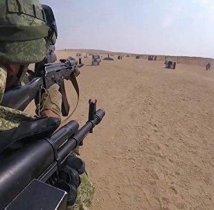 Ćwiczenia desantowców Sił Zbrojnych Federacji Rosyjskiej i Egiptu