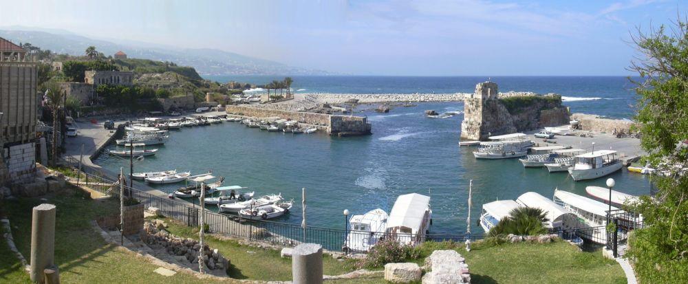 Miasto Byblos w Libanie