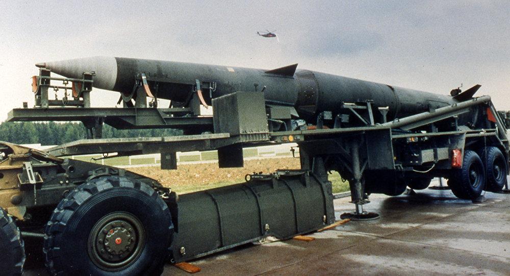 Amerykańskie pociski balistyczne Pershing II na bazie USA w Niemczech, 1987 r.