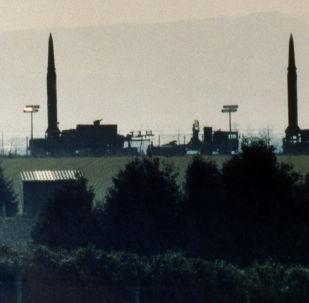 Amerykańskie pociski Pershing II w bazie USA w Niemczech, 1987 r.