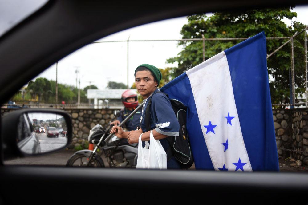 Migrant z Hondurasu