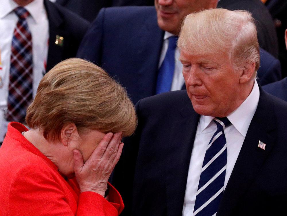 Angela Merkel z Donaldem Trumpem