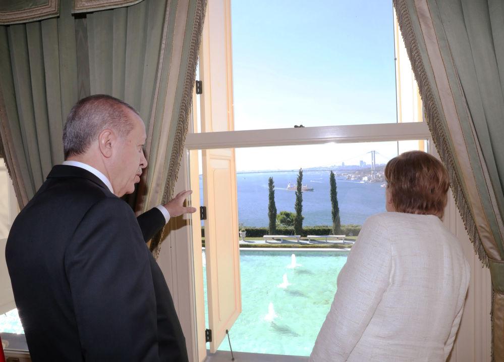 Spotkanie Angeli Merkel z prezydentem Turcji w Stambule, 2018 r.