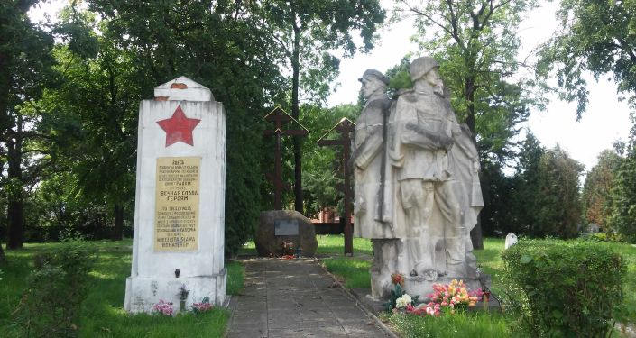 Pomnik żołnierzy radzieckich na Cmentarzu Prawosławnym w Radomiu