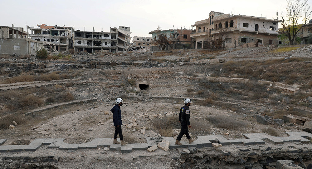 Białe Hełmy w okolicach Dary, Syria