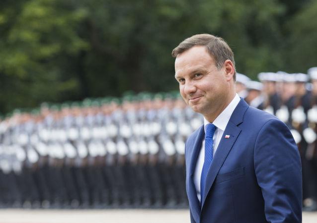 Prezydent Polski Andrzej Duda podczas wizyty w Niemczech