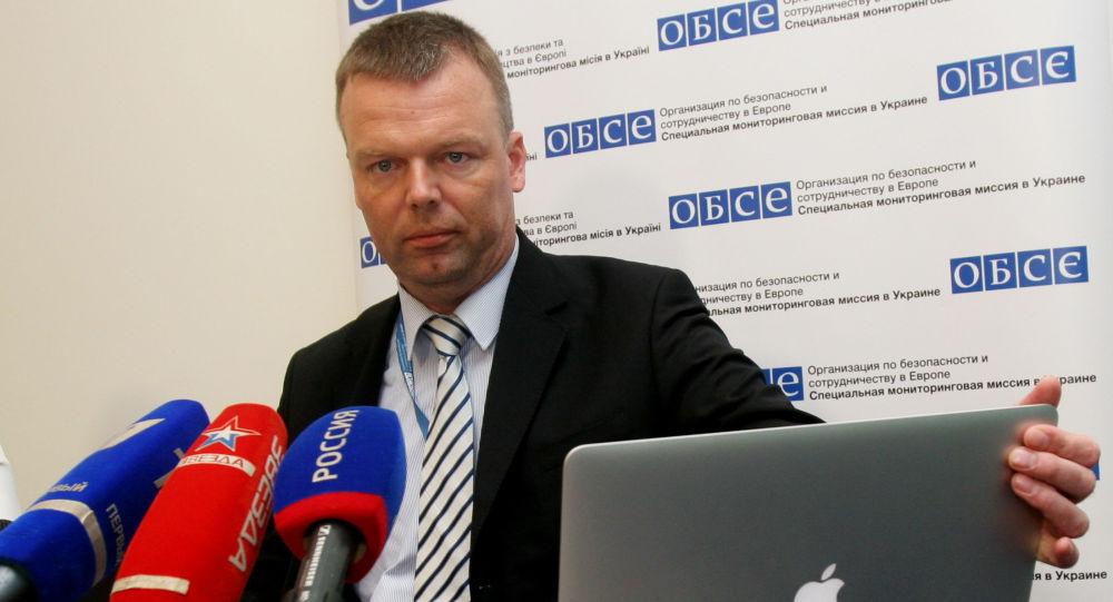 Szef OBWE Alexander Hug w Doniecku