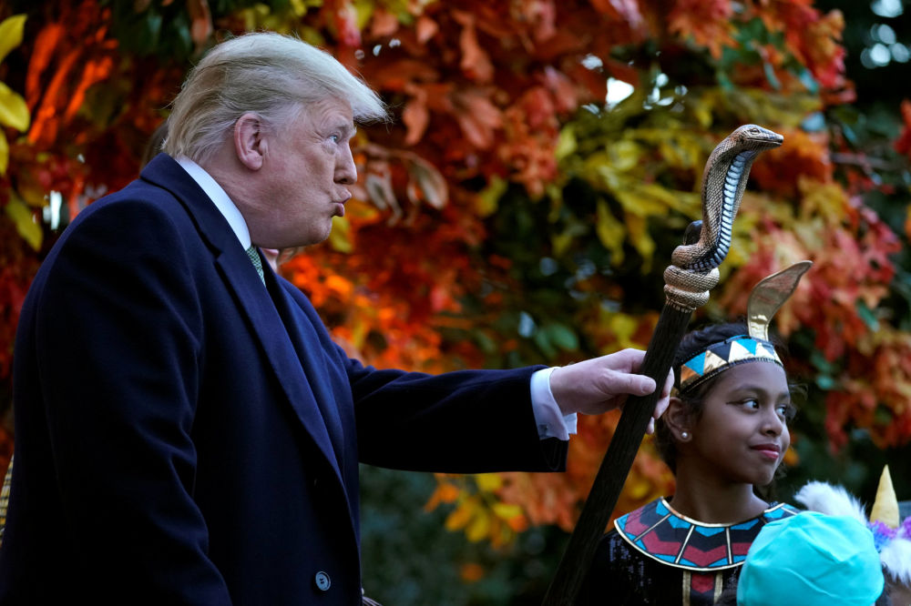 Donald Trump obchodzi Halloween