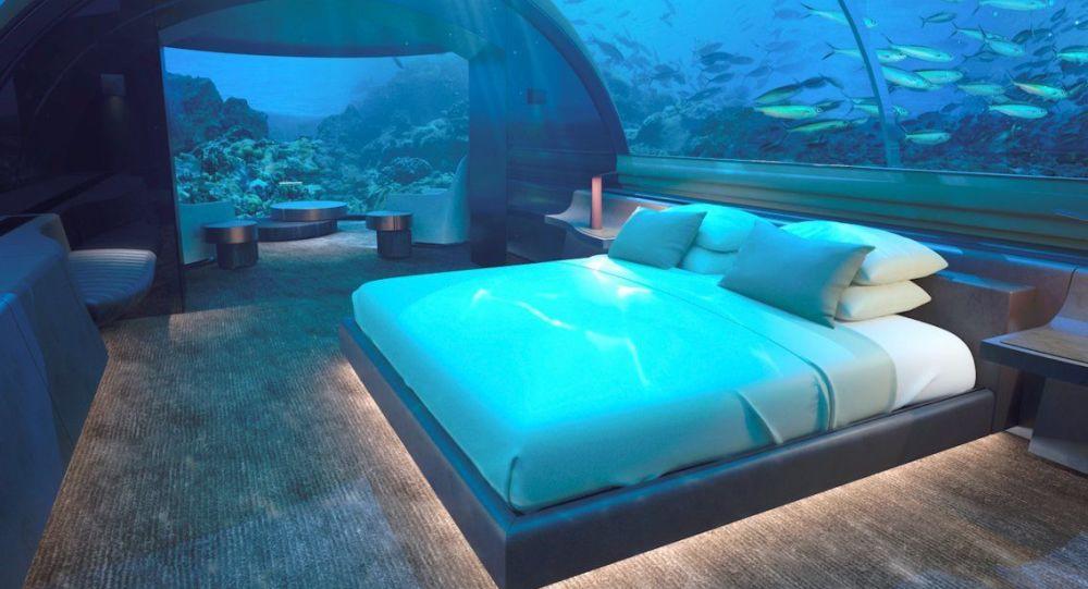 Podwodny pokój hotelu Conrad Maldives Rangali Island