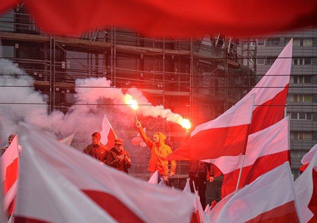 Marsz z okazji 100-lecia odzyskania niepodległości w Warszawie