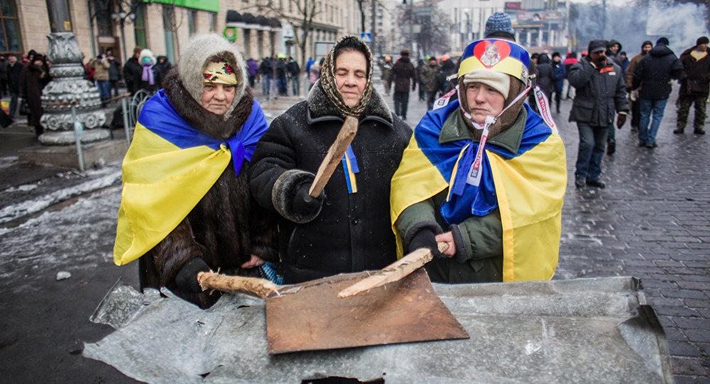 Zwolennicy eurointegracji w Kijowie, Ukraina